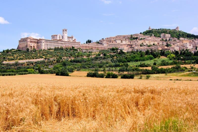 De mening van Assisi stock foto