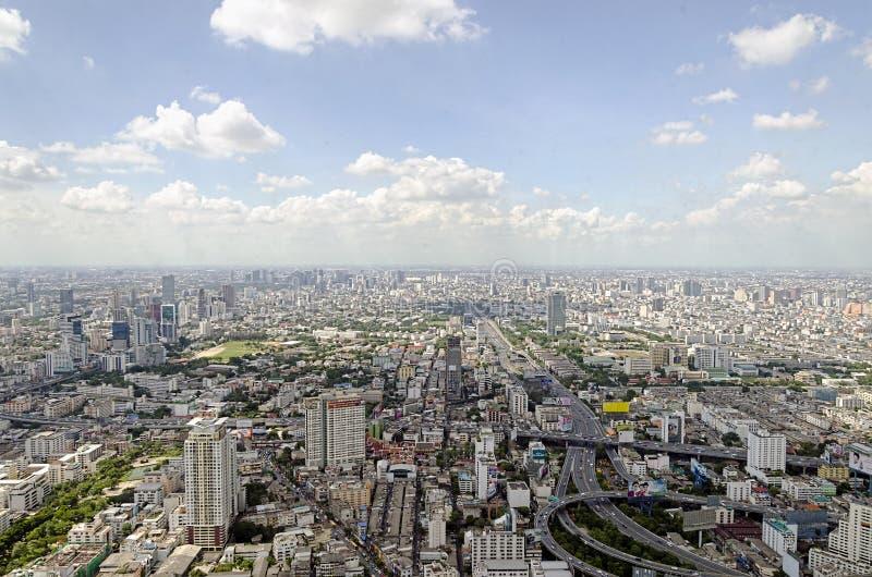 De mening van Bangkok van Baiyoke-Toren II royalty-vrije stock afbeelding
