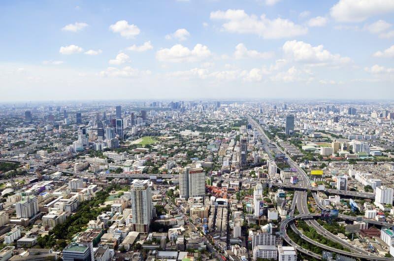 De mening van Bangkok van Baiyoke-Toren II stock foto