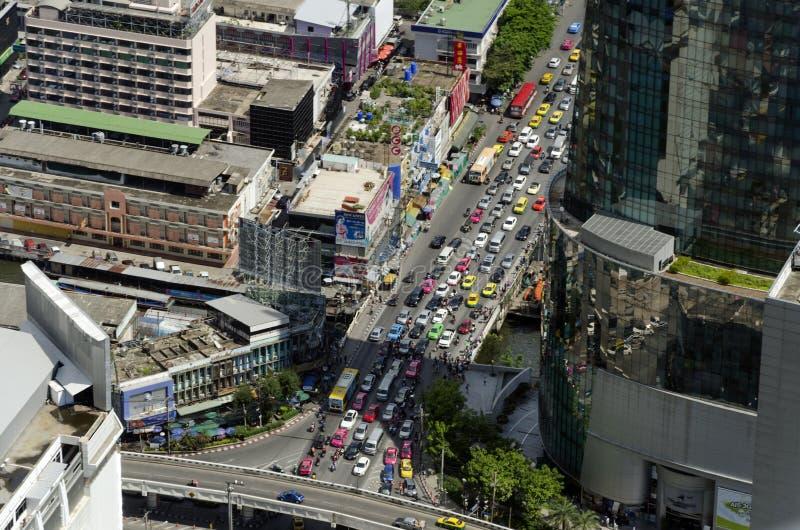 De mening van Bangkok van Baiyoke-Toren II royalty-vrije stock fotografie