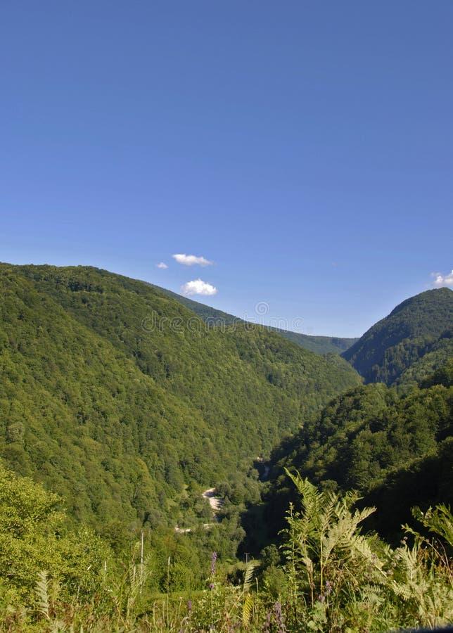 De mening van bergen royalty-vrije stock foto