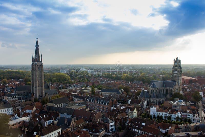 De mening van Brugge van hierboven royalty-vrije stock foto's