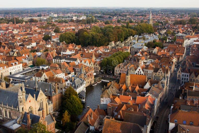 De mening van Brugge van hierboven stock foto