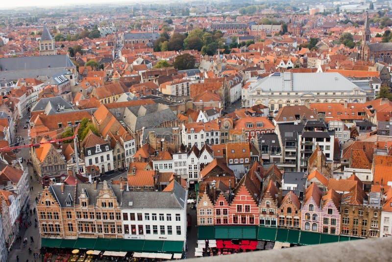 De mening van Brugge van hierboven stock afbeelding