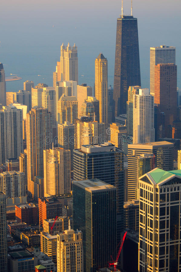 De mening van Chicago vanaf de bovenkant royalty-vrije stock foto