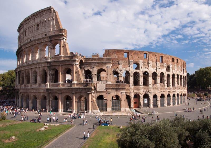 De mening van Coliseum van Foro Romano - Rome - Italië royalty-vrije stock fotografie