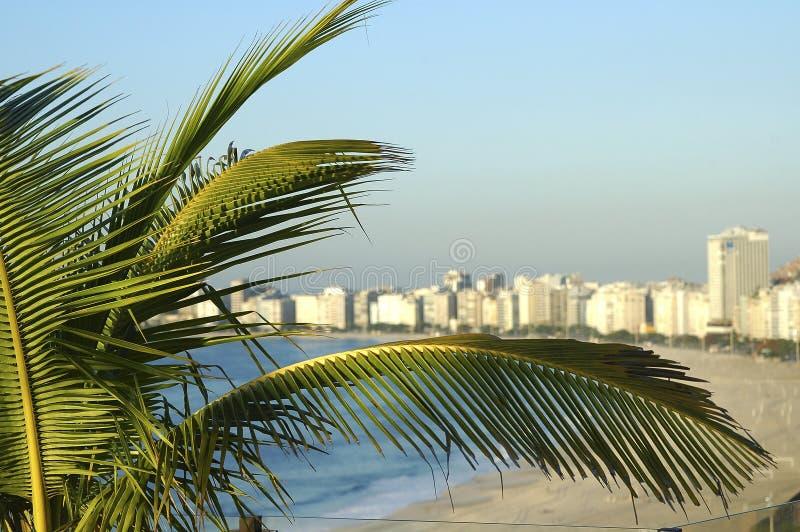 De mening van Copacobana stock foto