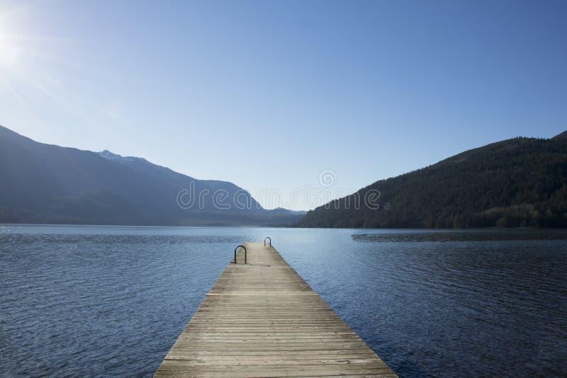 De mening van Cultus-meer, Canada Meerdok royalty-vrije stock afbeeldingen
