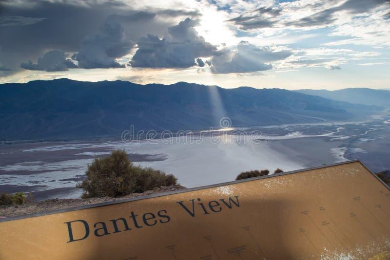 De mening van Dante royalty-vrije stock fotografie