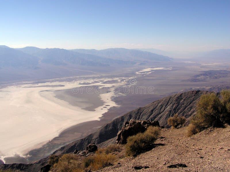 De Mening van Dante, zoute oever, het Nationale Park van de Doodsvallei royalty-vrije stock foto's