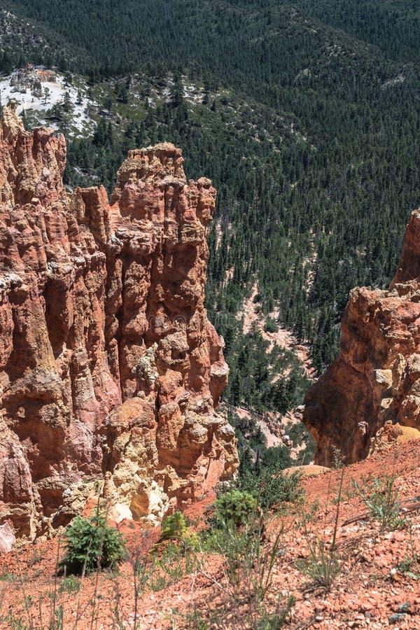 De mening van de Aguacanion, Bryce Canyon National Park, Utah royalty-vrije stock foto