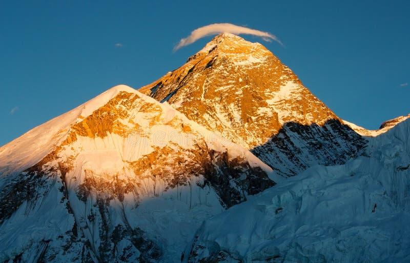 De mening van de avond van Everest royalty-vrije stock foto