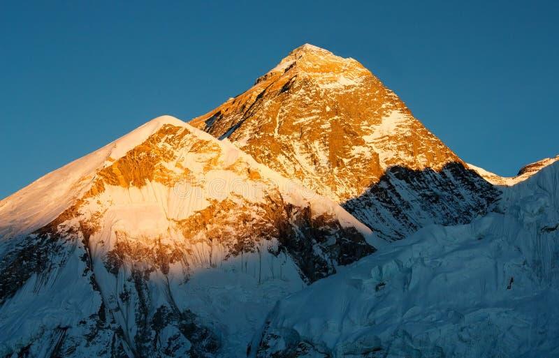 De mening van de avond van Everest royalty-vrije stock foto's