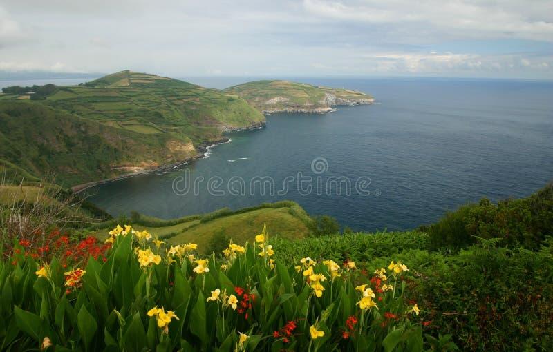 De Mening van de Azoren stock afbeelding