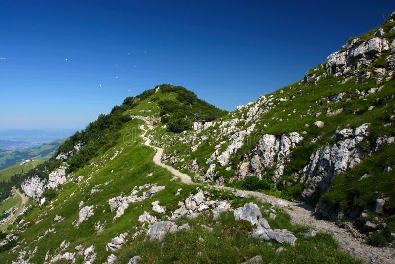 De mening van de berg in Appenzel (Zwitserland) royalty-vrije stock fotografie