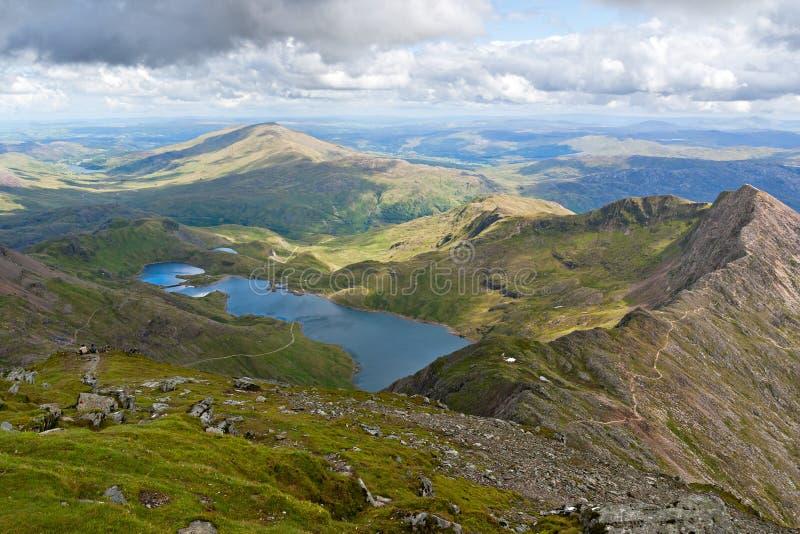 De mening van de berg van Snowdon royalty-vrije stock fotografie