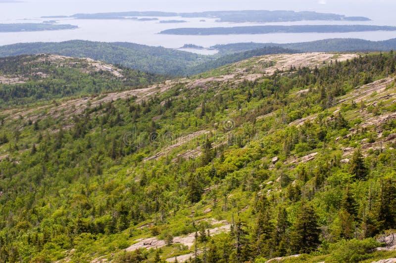 De mening van de bergtop in Acadia stock foto