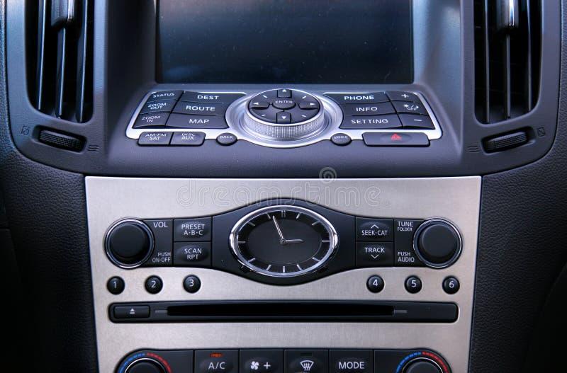 De mening van de close-up van een GPS systeem van de voertuignavigatie royalty-vrije stock afbeelding