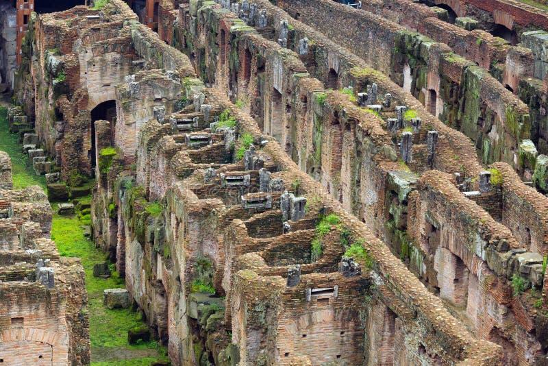 De mening van de Colosseumarena in Rome stock afbeeldingen