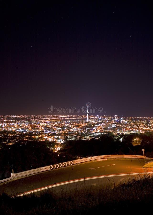 De mening van de de horizonnacht van Auckland royalty-vrije stock fotografie