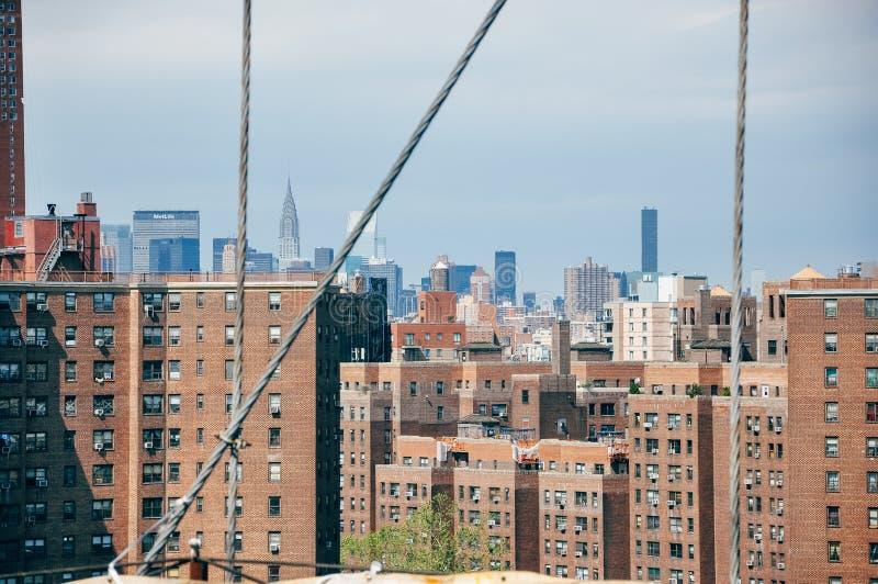 De mening van de de stadshorizon van Manhattan royalty-vrije stock afbeeldingen