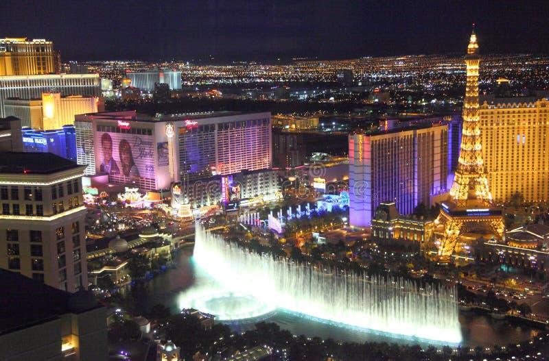 De mening van de de Strooknacht van Las Vegas stock foto