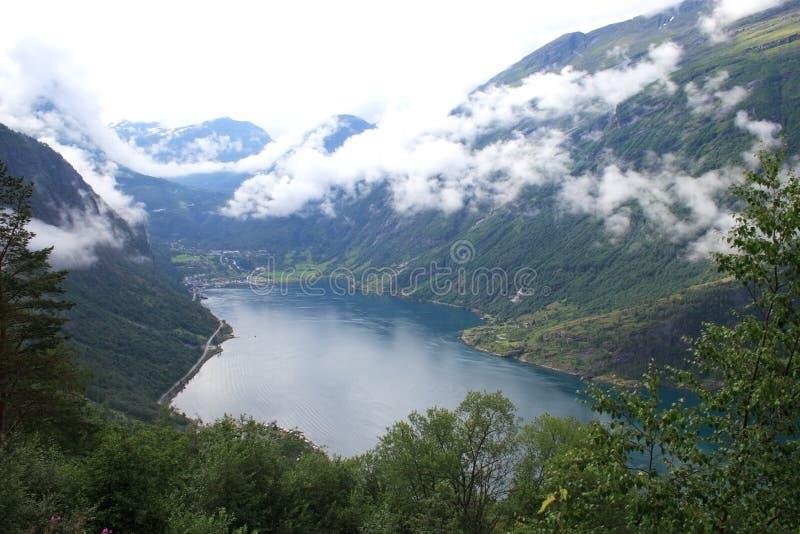 De mening van de fjord royalty-vrije stock afbeelding