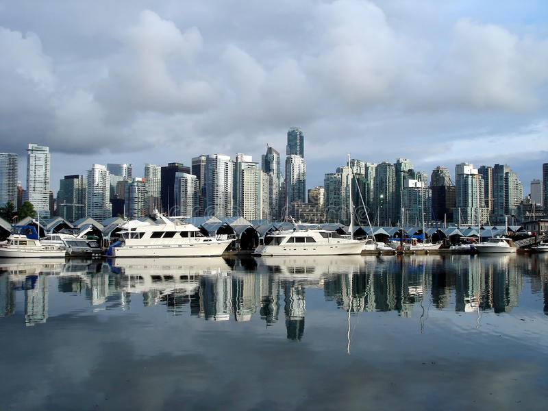 De Mening van de haven in Vancouver stock foto