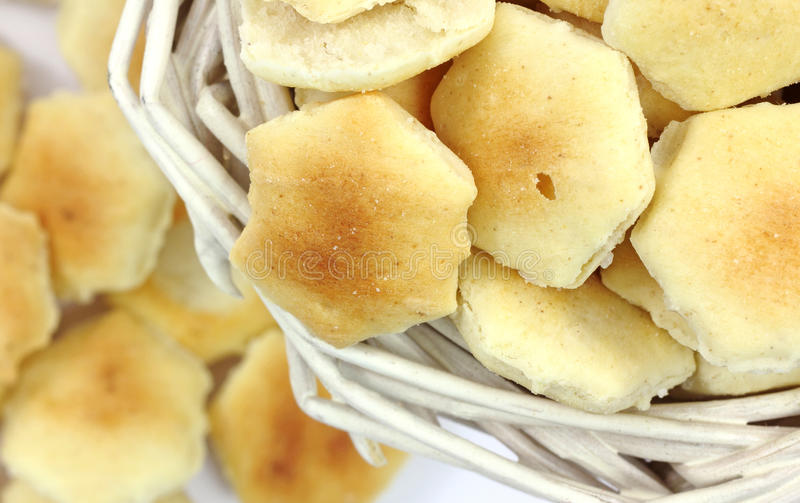 De Mening van de Hoek van de Crackers van de oester royalty-vrije stock foto
