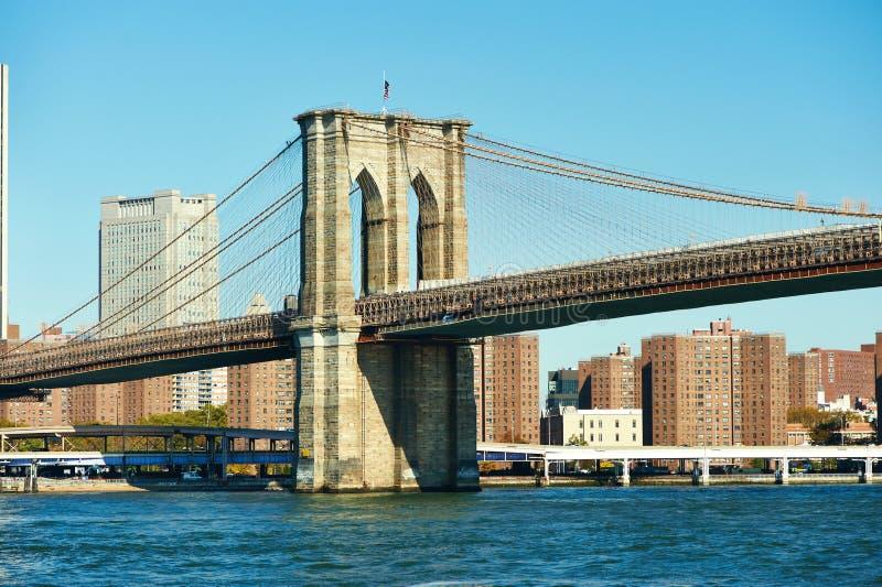 De mening van de Lower Manhattanhorizon van Brooklyn royalty-vrije stock afbeeldingen