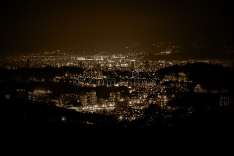 De mening van de nacht stock foto