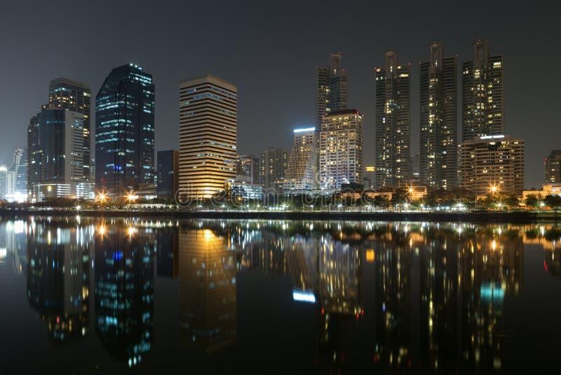 De mening van de nacht van Bangkok, Thailand stock foto