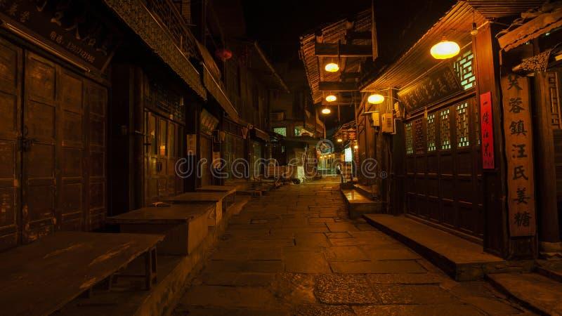 De mening van de nacht van Fenghuang, China stock afbeeldingen