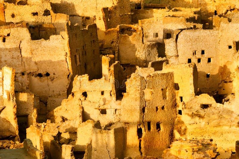 De mening van de Oase Siwa is een oase in Egypte stock afbeeldingen