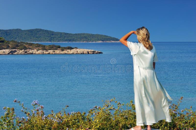 De mening van de ochtend van de eilanden royalty-vrije stock afbeeldingen