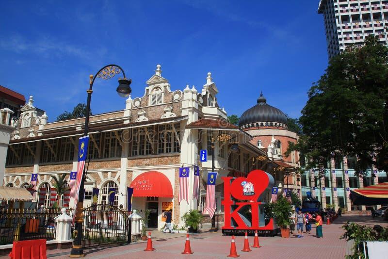 De mening van de ochtendstad van Kuala Lumpur royalty-vrije stock afbeelding
