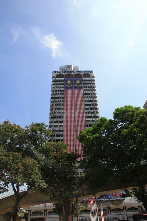 De mening van de ochtendstad van Kuala Lumpur stock afbeeldingen