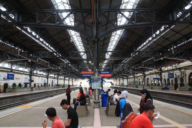 De mening van de ochtendstad van Kuala Lumpur Railway Station van Kuala Lumpur op nationale dag royalty-vrije stock fotografie