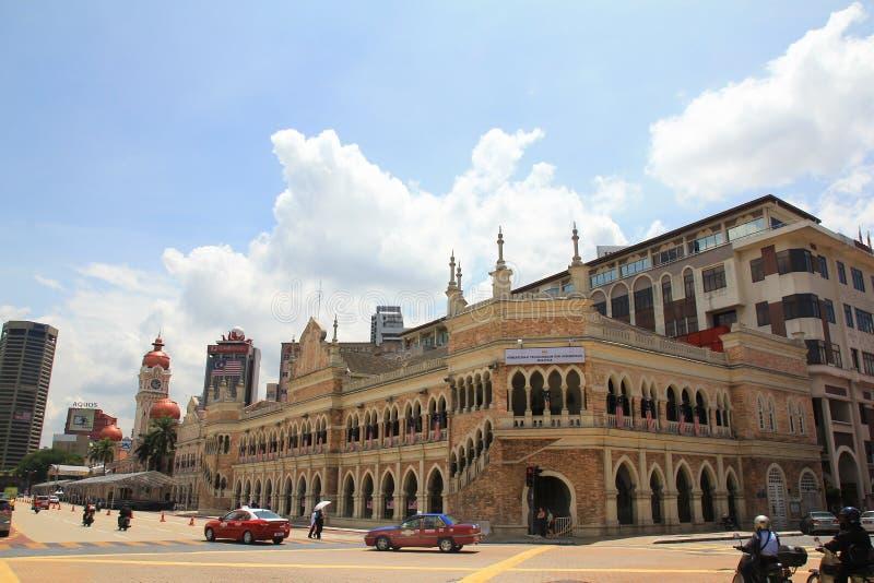 De mening van de ochtendstad van merdekavierkant van Kuala Lumpur op nationale dag stock afbeelding