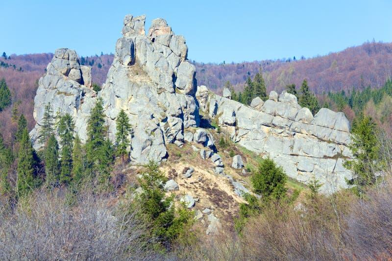 De mening van de Rotsen van Urych stock afbeeldingen