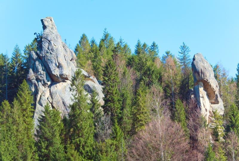 De mening van de Rotsen van Urych stock foto