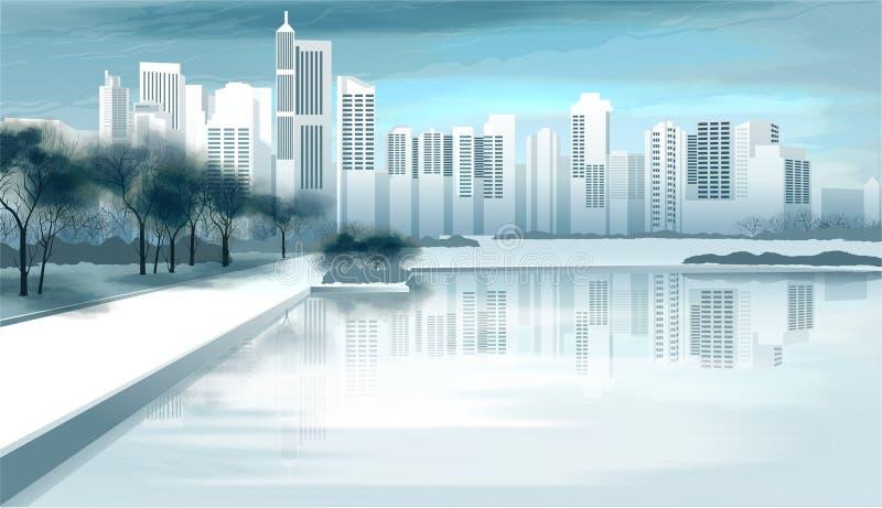 De Mening van de stad stock illustratie