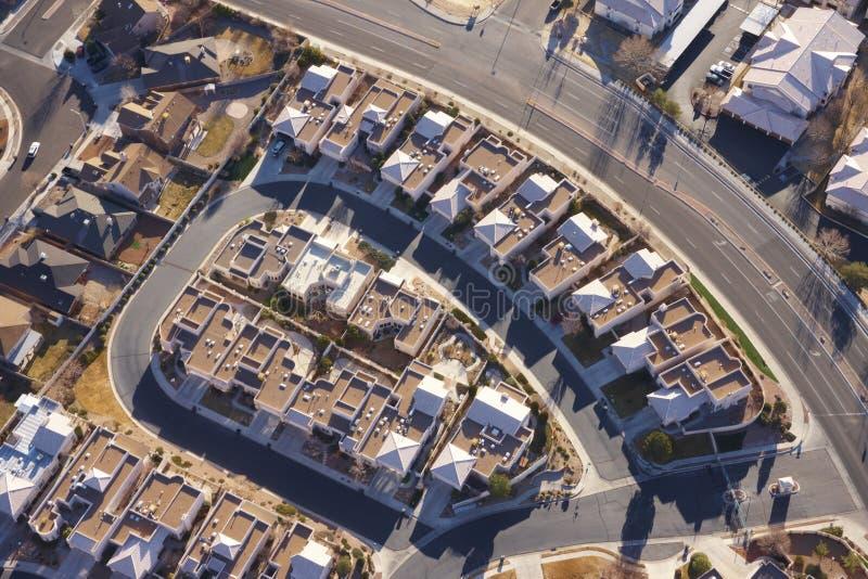 De mening van de stad van hierboven stock afbeeldingen