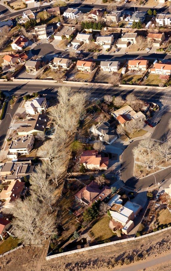 De mening van de stad van hierboven stock fotografie