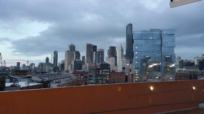 De mening van de stad van Seattle royalty-vrije stock foto