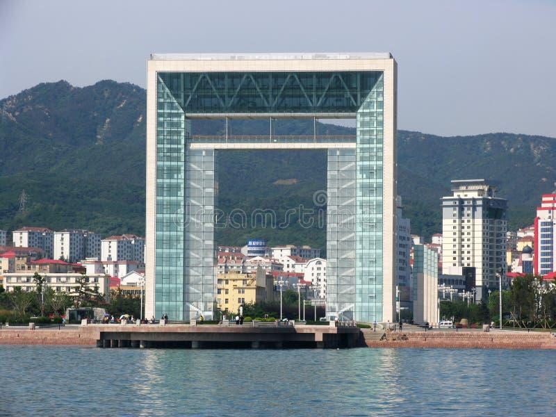 De mening van de stad van weihai stock fotografie