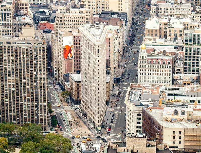 De Mening van de Straat van de Stad van New York royalty-vrije stock foto's