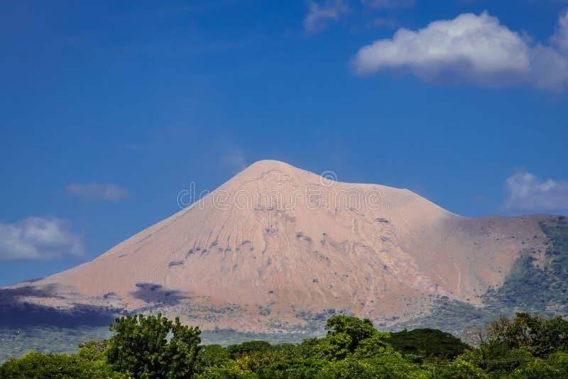De mening van de Telicavulkaan, Leon in Nicaragua royalty-vrije stock foto's