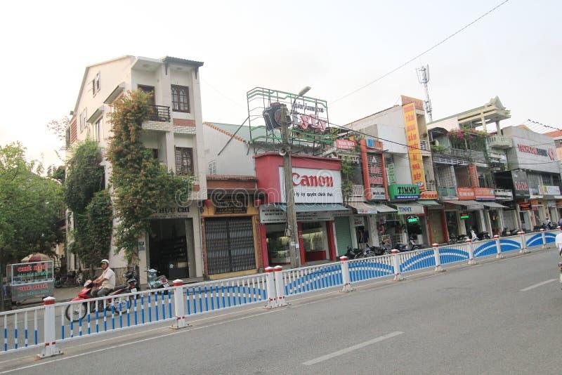 De mening van de tintstraat in Vietnam royalty-vrije stock afbeelding