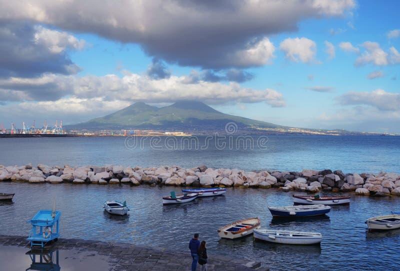 De mening van de Vesuvius stock foto